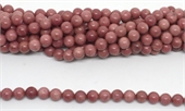 Rhodonite Polished Round 8mm strand 47 beads-beads incl pearls-Beadthemup