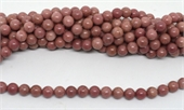 Rhodonite Polished Round 10mm strand 37 beads-beads incl pearls-Beadthemup