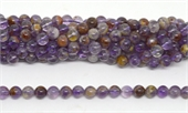 Super 7 (Auralite) Polished Round 8mm strand 47 beads-beads incl pearls-Beadthemup