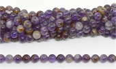 Super 7 (Auralite) Polished Round 10mm strand 37 beads-beads incl pearls-Beadthemup