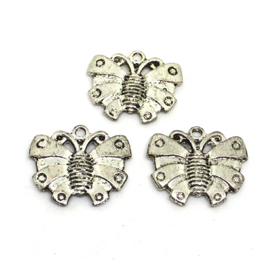 Base Metal Butterfly Charm 30mm 3 pack