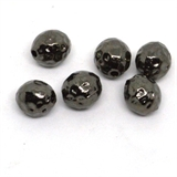 Base Metal Black 10mm Round 6 Pack-findings-Beadthemup