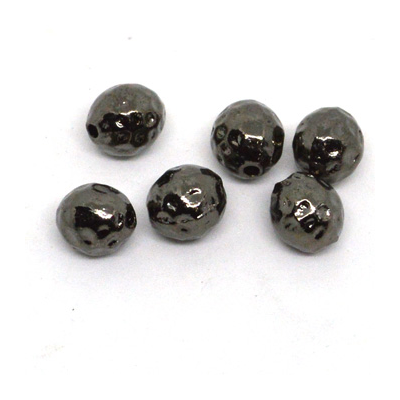 Base Metal Black 10mm Round 6 Pack
