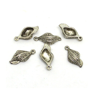 Base Metal Shell Charm 22mm 6 Pack
