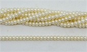 Fresh Water Pearl Rondel 6x4.5mm strand 84 beads-beads incl pearls-Beadthemup