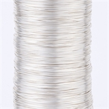 Silver plated copper wire 0.6 2m length-findings-Beadthemup