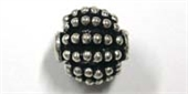 Sterling Silver Bead Round 9.5mm beaded 1 pack-beads and spacers-Beadthemup