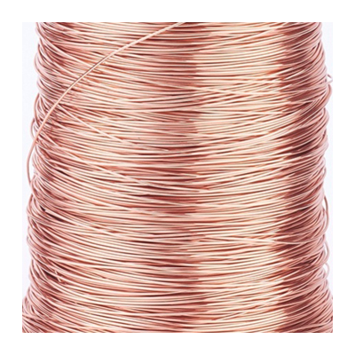 ROSE Gold plated copper wire 0.4 2m length