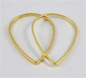 Brass links Teardrop 38x25mm Gold 10 pack-findings-Beadthemup