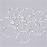 Brass links Round 30x1mm Silver 10 pack-findings-Beadthemup