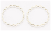 Brass Linking Rings 18K Gold Plated 24.5x1mm 4 pack-findings-Beadthemup
