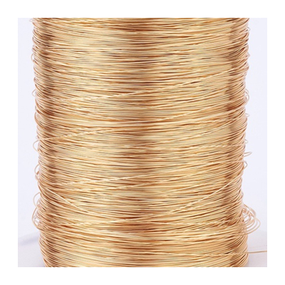 Gold plated copper wire 0.5mm 2 m length