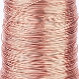 ROSE Gold plated copper wire 0.6 2m length-findings-Beadthemup