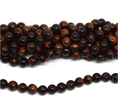 red tiger eye AB+ polished round 10mm strand 38 beads-beads incl pearls-Beadthemup