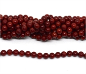 red coral polished round 8mm strand 49 beads-beads incl pearls-Beadthemup