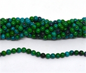 Synthetic Azurite polished round 6mm strand 65 beads-beads incl pearls-Beadthemup