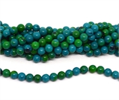 Synthetic Azurite polished round 8mm strand 48 beads-beads incl pearls-Beadthemup