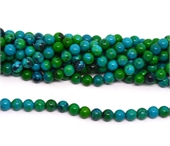 Synthetic Azurite polished round 10mm strand 41 beads-beads incl pearls-Beadthemup