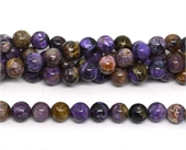 Charoite  polished round 10mm strand 39 beads-beads incl pearls-Beadthemup