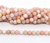 Pink Opal A Polished round 8mm strand 52 beads-beads incl pearls-Beadthemup