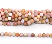 Pink Opal Polished round 8mm strand 52 beads-beads incl pearls-Beadthemup