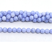 Blue Lace Agate polished round 10mm strand 39 beads-beads incl pearls-Beadthemup