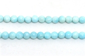Larimar polished round 6mm strand 65 beads-beads incl pearls-Beadthemup