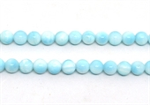 Larimar polished round 8mm strand 51 beads-beads incl pearls-Beadthemup
