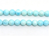 Larimar polished round 10mm strand 40 beads-beads incl pearls-Beadthemup