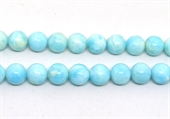 Larimar polished round 12mm strand 33 beads-beads incl pearls-Beadthemup