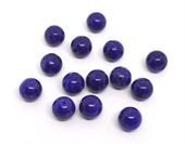 Natural Lapis polished round 16mm bead each-beads incl pearls-Beadthemup