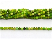 Green Grass Jasper  Faceted Round 3mm strand 129 beads-beads incl pearls-Beadthemup