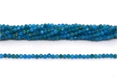 Apatite  Faceted Round 3mm strand 129 beads-beads incl pearls-Beadthemup