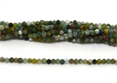 Moss agate Faceted Round 3mm strand 129 beads-beads incl pearls-Beadthemup