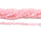 Rose Quartz polished nugget 6x8mm strand approx 55 beads-beads incl pearls-Beadthemup
