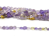 Ametrine polished nugget 6x8mm strand approx 56 beads-beads incl pearls-Beadthemup