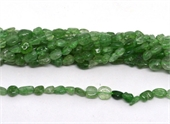 Green Strawberry Quartz polished nugget 6x8mm strand approx 57 beads-beads incl pearls-Beadthemup