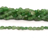 Green Strawberry Quartz polished nugget 8x10mm strand approx 43 beads-beads incl pearls-Beadthemup