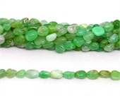 Chrysoprase polished nugget 6x8mm strand approx 48 beads-beads incl pearls-Beadthemup