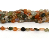 Fortune Quartz polished nugget 8x10mm strand approx 42 beads-beads incl pearls-Beadthemup