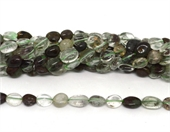 Green Phantom Quartz polished nugget 8x10mm strand approx 38 beads-beads incl pearls-Beadthemup