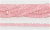 Rose Quartz Faceted Cube 4mm 100 beads per strand-beads incl pearls-Beadthemup