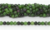 Ruby Zoisite polished round 6mm 63 beads per strand-beads incl pearls-Beadthemup