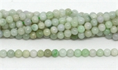 Emerld polished round 4mm 93 beads per strand-beads incl pearls-Beadthemup
