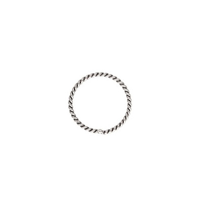 Sterling Silver Jump Ring closed twisted 10mm 10 pack