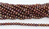 Fresh Water Pearl rusty copper 9-10mm 51 beads -beads incl pearls-Beadthemup