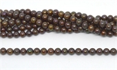 Fresh Water Pearl round 7-7.5mm brown approx 57 Pearl-beads incl pearls-Beadthemup
