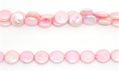 Fresh Water Pearl Coin 12mm Rose 30/strand-beads incl pearls-Beadthemup