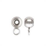 Sterling Silver 4mm Smart bead W/RING 2.0mm hole 1 pack-findings-Beadthemup