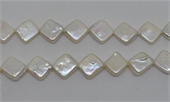F.W pearl  Diamond 12mm strand 27 beads -beads incl pearls-Beadthemup